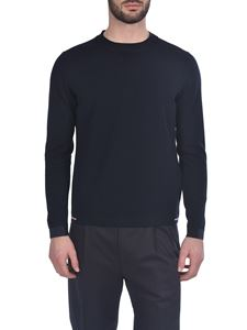 Moncler - Tricot crew neck sweater in blue