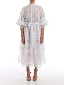 Ermanno Scervino - Lace effect embroidery organza dress