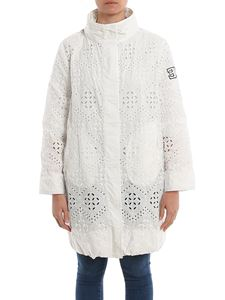 Ermanno Scervino - Lace effect embroidered parka