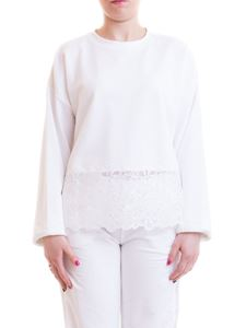 Ermanno Scervino - Mesh detailed cotton sweater