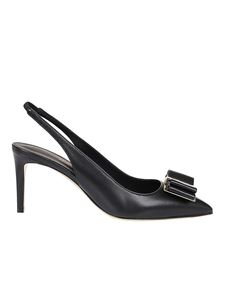 Salvatore Ferragamo - Zahir 70 leather slingback pumps