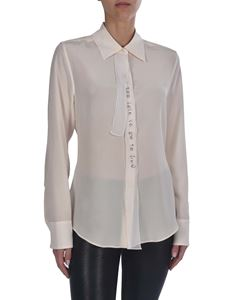 Stella McCartney - Shirt in cream color with ribbons