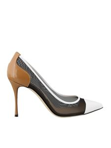 Sergio Rossi - Fabric and patent leather pumps