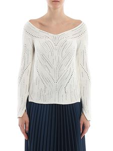 Ermanno Scervino - Embellished boat neck sweater