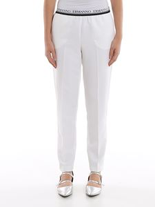 Ermanno Scervino - Logo waistband cady trousers