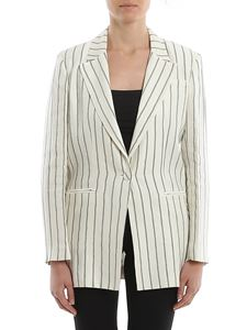 L'Autre Chose - Linen blend striped blazer