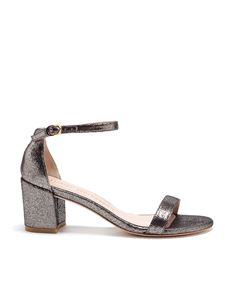 Stuart Weitzman - Sandali Simple in pelle metallizzata