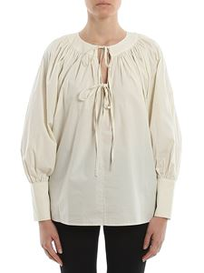 L'Autre Chose - Bow collar cotton blouse