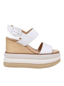 Paloma Barceló - Jacta sandals in chalk white