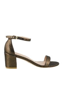Stuart Weitzman - Simple lamé velvet sandals