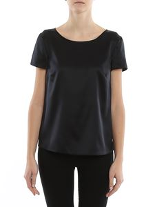 Emporio Armani - Black silk satin blouse