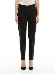 Emporio Armani - Black stretch gabardine trousers