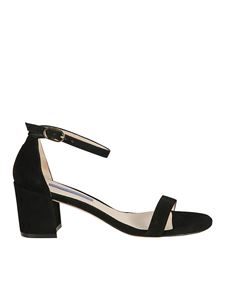 Stuart Weitzman - Simple heeled black suede sandals