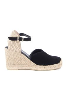 Paloma Barceló - Alexia suede wedges in black