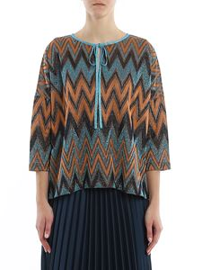 M Missoni - Chevron lurex-knit blouse