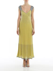 M Missoni - Striped lurex-knit maxi dress