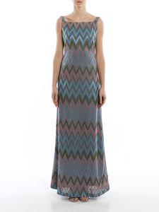 M Missoni - Lamé chevron long dress