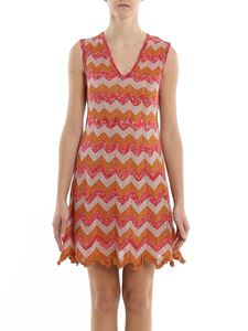 M Missoni - Chevron lurex-knit dress