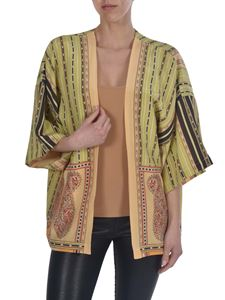 Etro - Striped and Paisley print poncho
