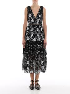 Self-Portrait - Midi dress in embroidered tulle