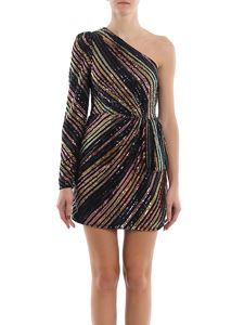 Self-Portrait - Sequins striped mini dress
