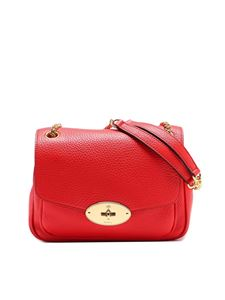 Mulberry - Darley red small grainy leather bag