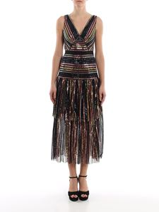 Self-Portrait - Sequins striped long dress