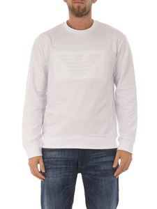 Emporio Armani - Eagle logo cotton sweatshirt
