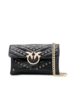 Pinko - Borsa Love Mini Soft Eyelets nera