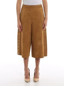 Alberta Ferretti - Suede trousers with eyelets