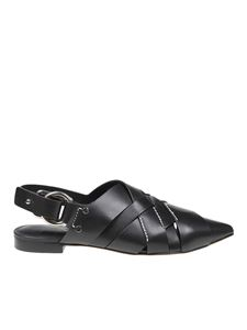 3.1 Phillip Lim - Woven leather pointy flat slingbacks