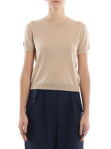 Alberta Ferretti - Knitted cropped T-shirt with ribbed edges