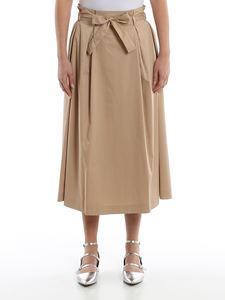 Peserico - Cotton midi flared skirt