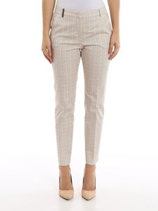 Peserico - Herringbone patterned pants