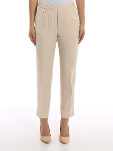 Peserico - Point light embellished crêpe pants