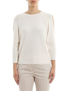 Peserico - Sequined crew neck sweater