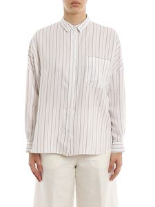 Peserico - Viscose silk blend striped shirt