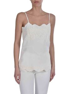 Ermanno Scervino - Top in white with lace details