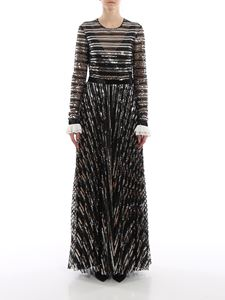 Philosophy di Lorenzo Serafini - Sequins embroidered long dress