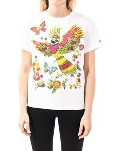 Red Valentino - Bird of Paradise in the Forest black T-shirt