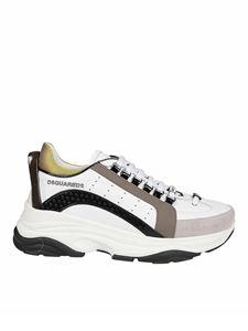 Dsquared2 - Bumpy leather and tech fabric sneakers