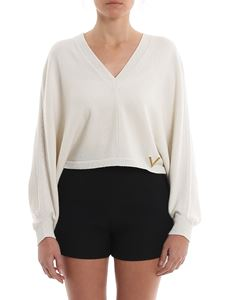 Valentino - Batwing sleeves short sweater