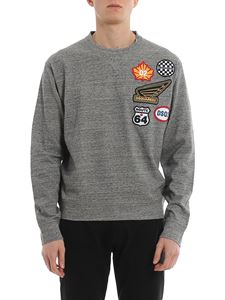 Dsquared2 - Logo patch melange sweatshirt