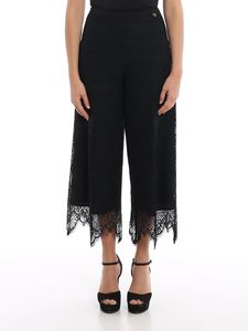 Twin-Set - Macramé flared trousers