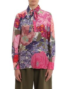 Valentino - Self-tie floral silk shirt