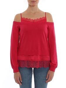 Twin-Set - Lace and satin detailed sweater