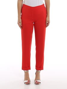 Parosh - Panters red cady trousers with turn-ups