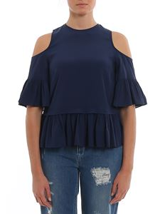 Twin-Set - Silk blend blouse with cut out shoulders