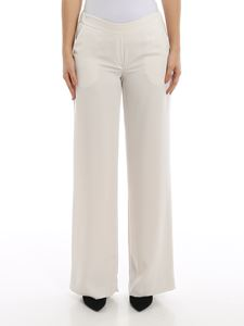 Parosh - Panters white cady pull-on trousers