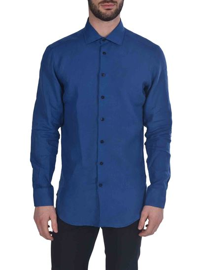 Etro - Contrasting buttons shirt in blue